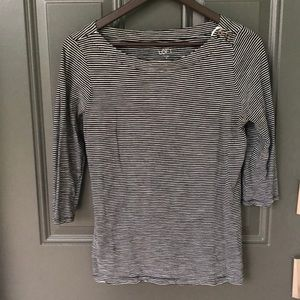 Ann Taylor Loft striped sweater with button detail